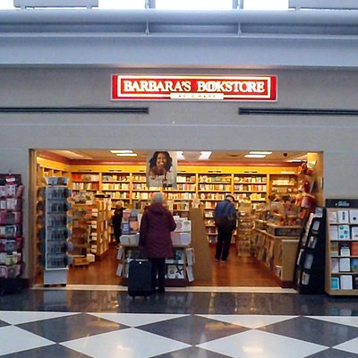 front of Barbara's Bookstore near Gate B-10 in Terminal 1 on Concourse B