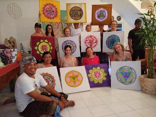 Ubud Bali Silk Painting