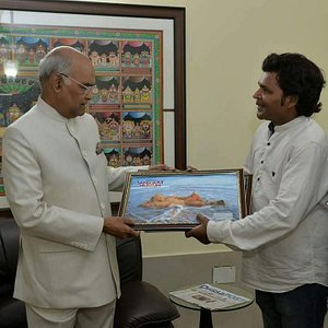 Beautiful moment with President of India