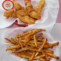 Chicken tenders and Hand-cut fries. Awesome.