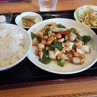 鶏肉とカシューナッツ炒めの定食