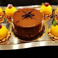 """Десерт с манго """"Восход солнца """"и тортик """"Сюрприз"""""""
