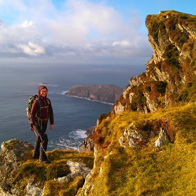 Our visits to Achill Island, hiking the stunning coastline of Achill Head.