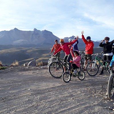 Bajando en bici desde los 4200 msnm. Una experiencia unica!!1