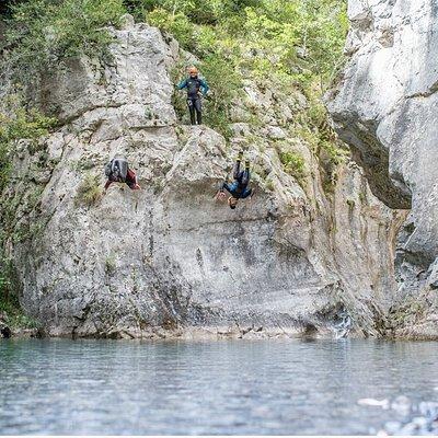 Un aperçu des sauts réalisables en Canyons