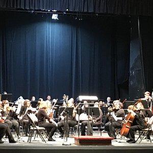 Fergus Falls Community Orchestra just prior to 3/3/19 concert