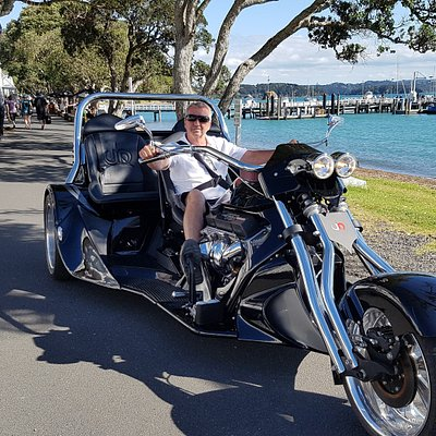 Tour round beautiful Russell and see the stunning views on this V8 Chevy Trike.