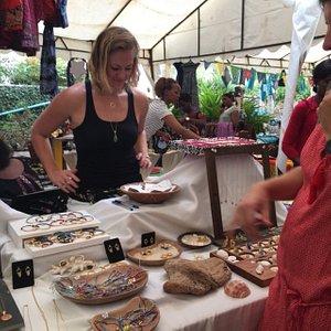 Owner Emily Gloekler selling at a local artisan market