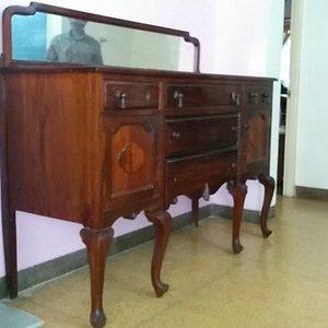 Antique Rosewood handmade wooden Cabinet Victorian.Original mirror.