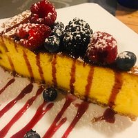 delicious homemade cheesecake with fruits of the forest