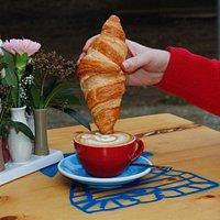 Croissant in Cappuccino