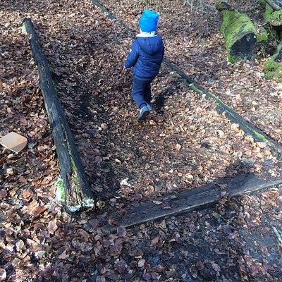Eine schöne Waldstrecke für Kinder. Sie hat nicht zu viele Kilometer. Man kann trotzdem den ganzen Tag hier verbringen und lernt auch noch was nebenbei.
