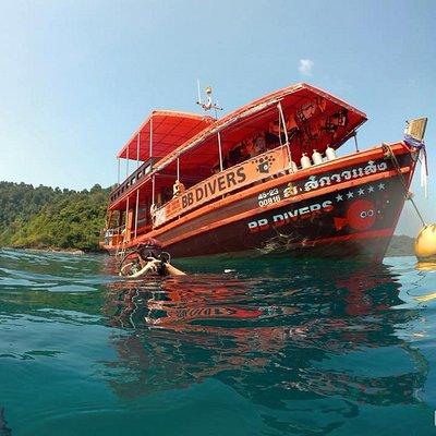 BB divers Kooh Mak boat