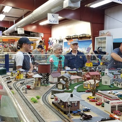 Guests enjoying the layouts at the museum