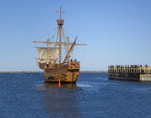 The Matthew leaving Bonavista Harbour