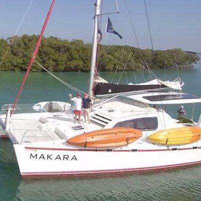 Makara is a 47ft sailing catamaran