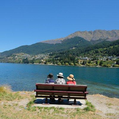 Seats overlooking the lake