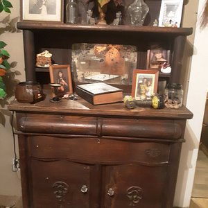 Not sure what year but definitely vintage no screw or nails armoire