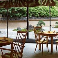 Interior with Japanese garden view