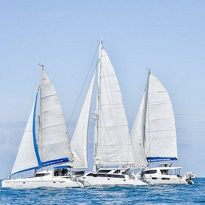 Our catamaran fleet - COCO, VERA, MYRA
