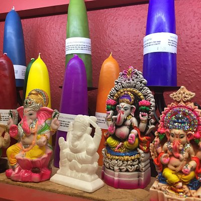 Hand-dipped candles and Ganesh's