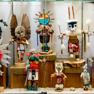 Some of our Kachina figures.