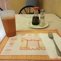 Thai iced tea and Chinese zodiac paper placemat