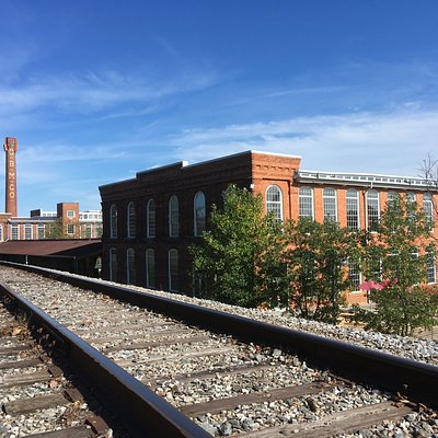A view from the RR tracks alongside historic Golden Belt.