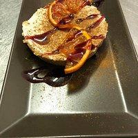 Cheesecake all'arancia al profumo di grand marnier