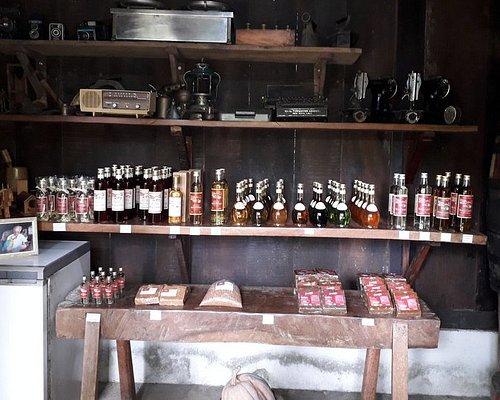 Produtos à venda e degustação