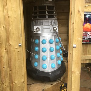 The famous Dalek in his shed