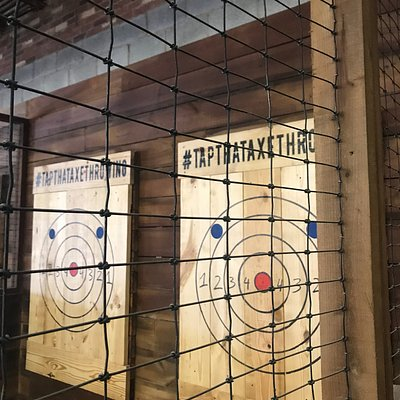 Come experience the most exciting new indoor activity, Axe Throwing all while enjoying a cold beer, listening to great music and socializing with great people.