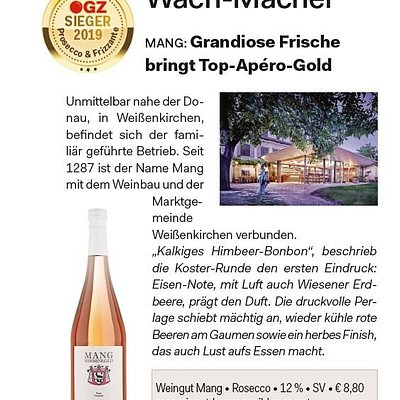 Unser Rosecco ist Sieger!