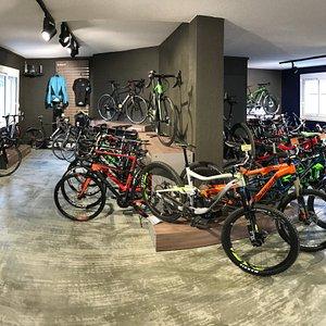 Un parc de vélos de plus de 150 vélos au choix.