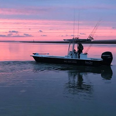 Inshore boat for Single Shot Guide Services on beautiful Edisto Beach!