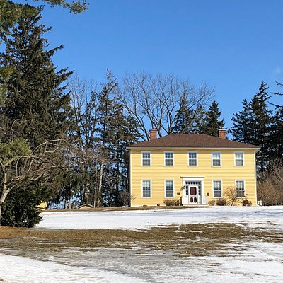 This quaint museum is situated in a quiet community in the north end of Brantford.  The yellow 19th century farmhouse sits on a generous piece of land along with silos and a workshop.   There's a quiet serenity here.
