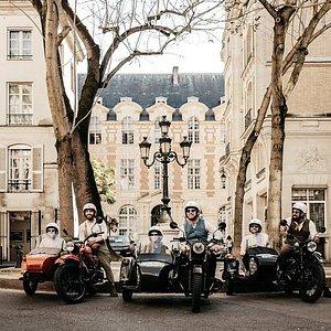 Sidecar tour in Saint Germain des Pres