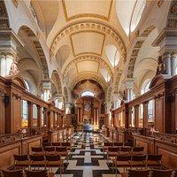 The interior of our splendid Wren church.