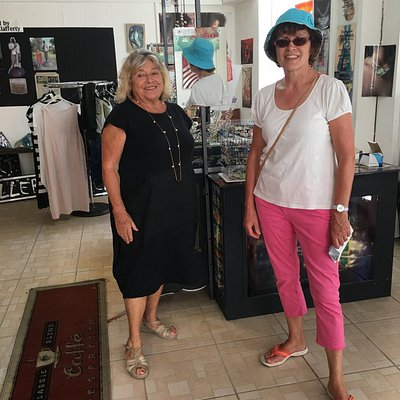 Artist Maria MCClafferty and me in her shop - February 2019
