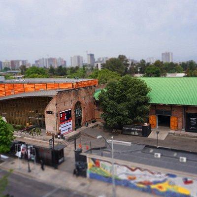 Vista aerea del Centro Cultural Matucana 100