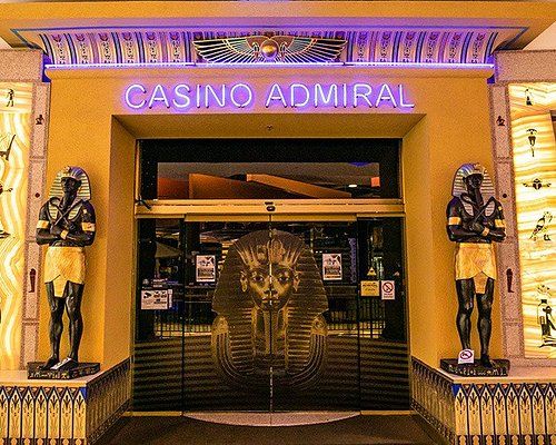 The entrance to Casino Admiral Kleopatra inside the Palladium shopping center at Republic square