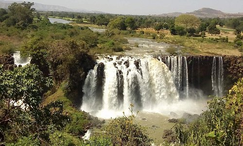 blue nile water falls