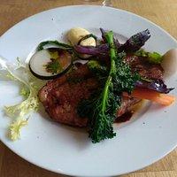 porc confit sauce balsamic et 6 légume