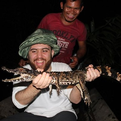 Night excursions looking for caimans. Pacaya Samiria