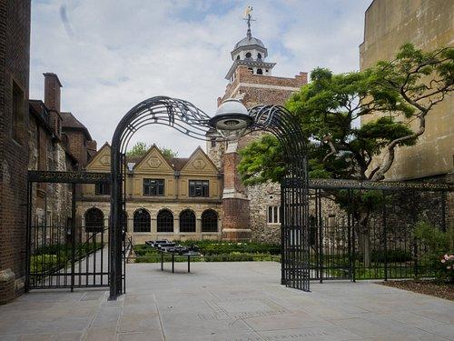 The main entrance to the Charterhouse