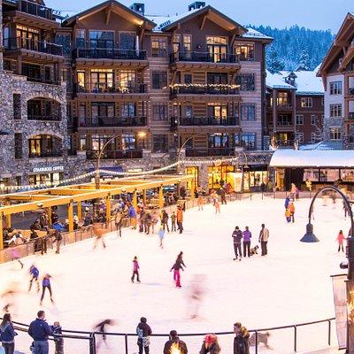 Village at Northstar ice skating rink