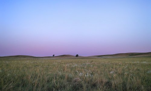 Steppe in Russland.
