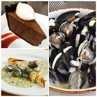 Pluff Mud Pie, Escargot, and Mussels Aioli