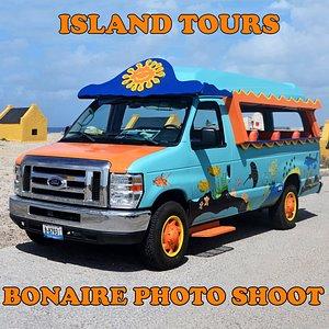 The Bonaire Photo Shoot - Island Tour - 16 passenger Cruise Mobile :)