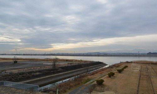 木曽川の眺め